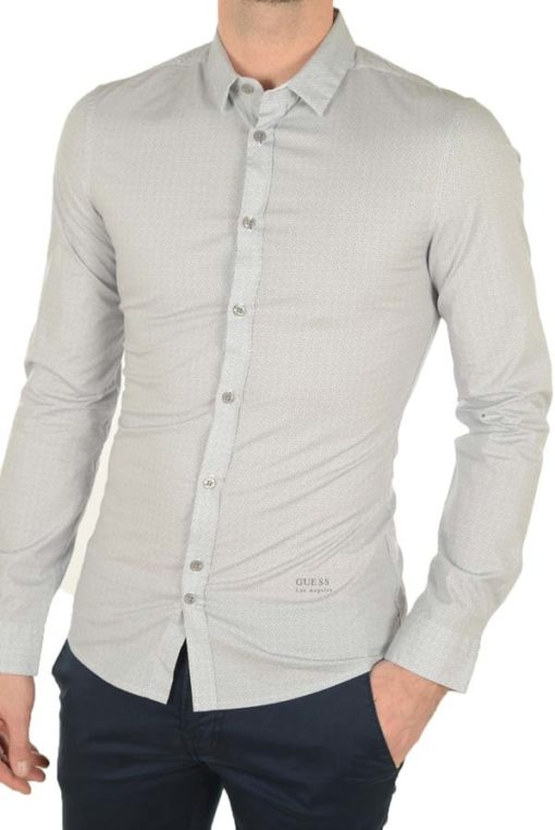 Guess uomo camicia in microfantasia