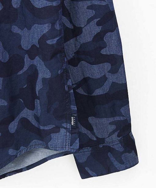 Armani jeans camicia da uomo in fantasia camouflage-1