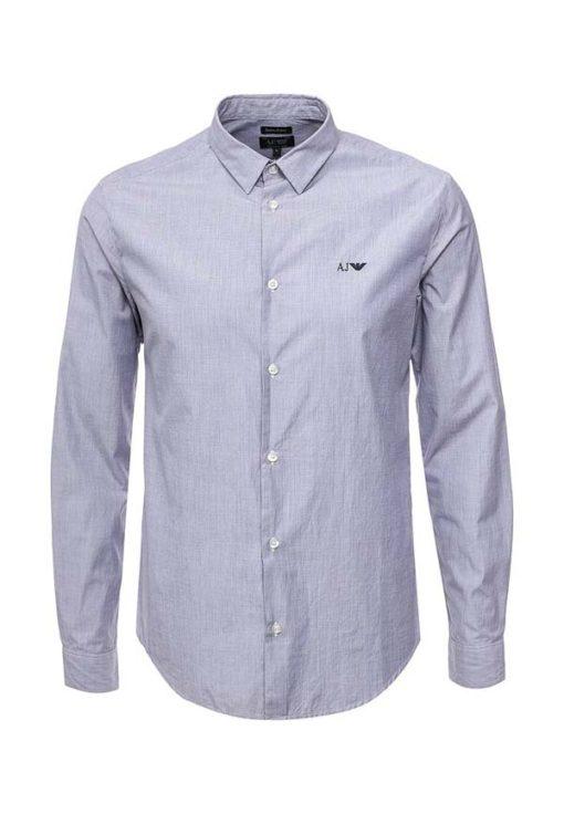 Armani jeans camicia slim in tinta unita-1