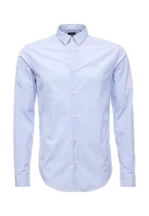 Armani jeans camicia slim in tinta unita