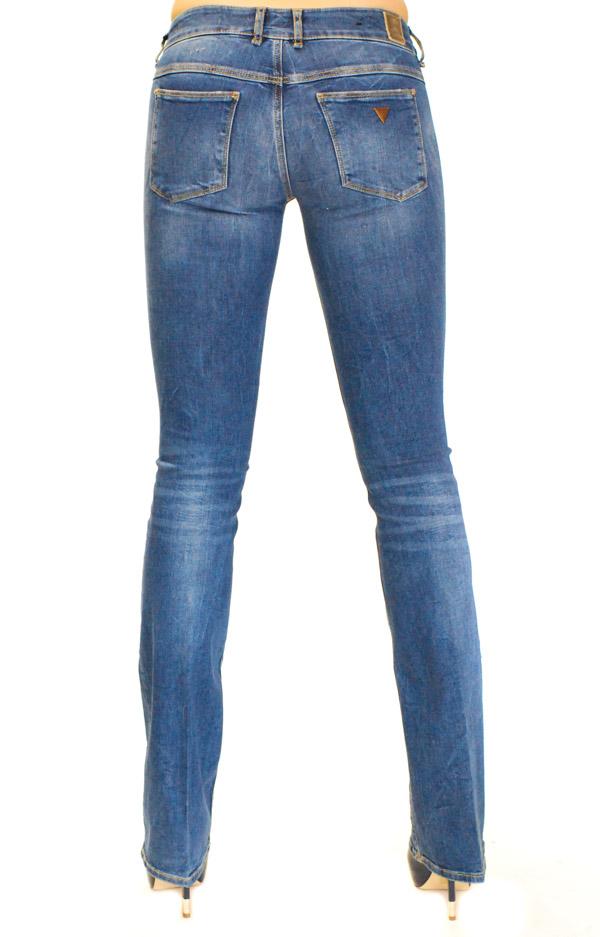 Guess jeans da donna a zampa-1