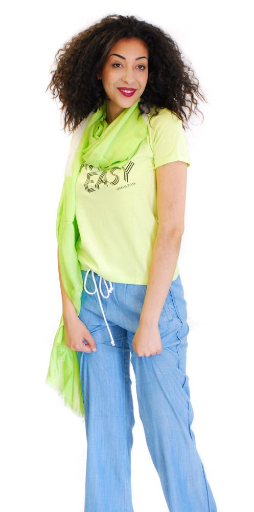 Sciarpa donna Armani jeans con stelle-1