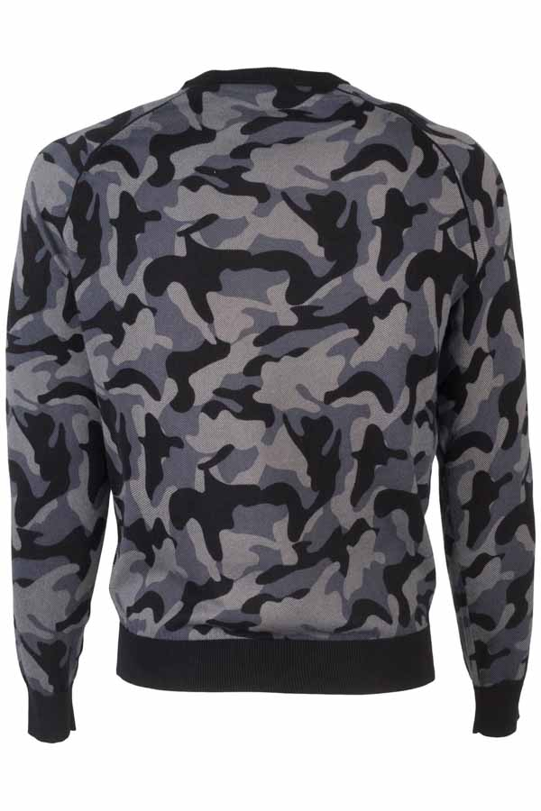 Armani jeans maglia da uomo in fantasia camouflage-2