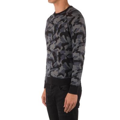 Armani jeans maglia da uomo in fantasia camouflage