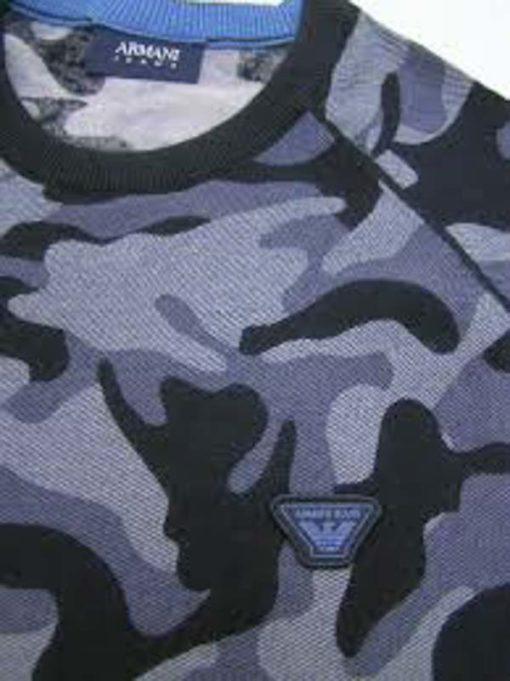 Armani jeans maglia da uomo in fantasia camouflage-3