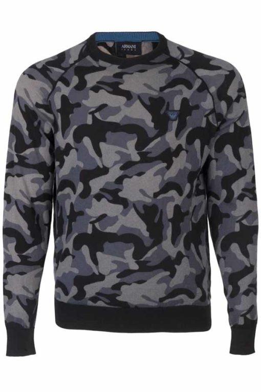 Armani jeans maglia da uomo in fantasia camouflage-1