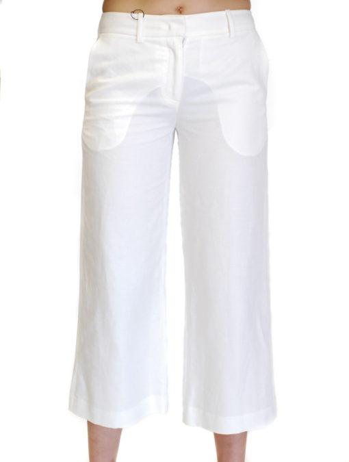 Pantalone bianco in lino Armani jeans donna