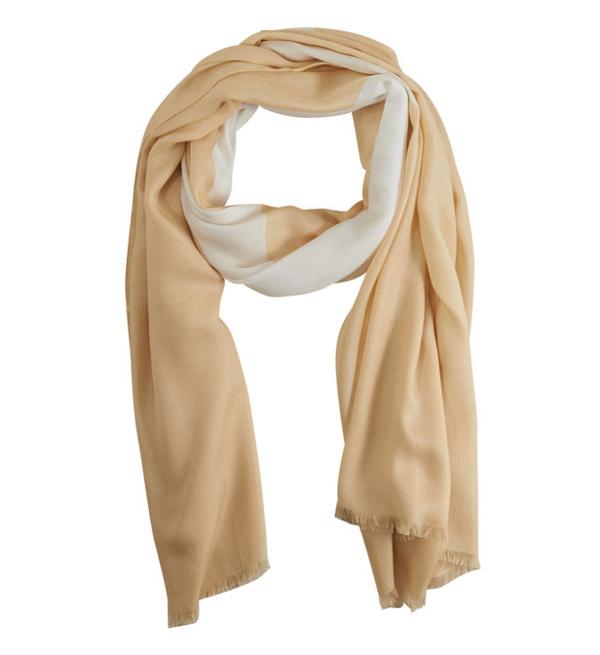 Sciarpa beige donna Armani jeans con stella