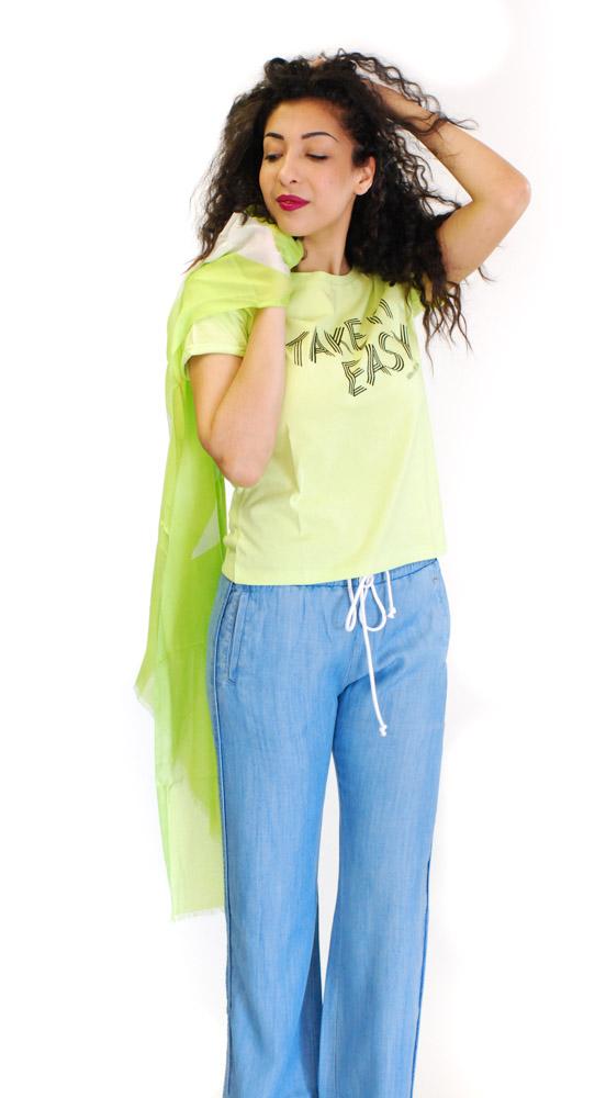maglietta mezza manica Armani jeans da donna-1