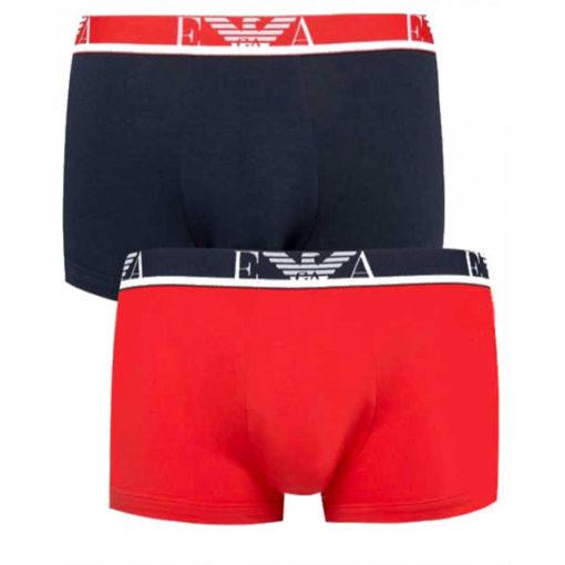 Emporio Armani boxer 2 pack rosso e blu