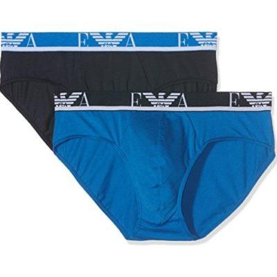 Emporio Armani mutande 2 pack blu e bluette