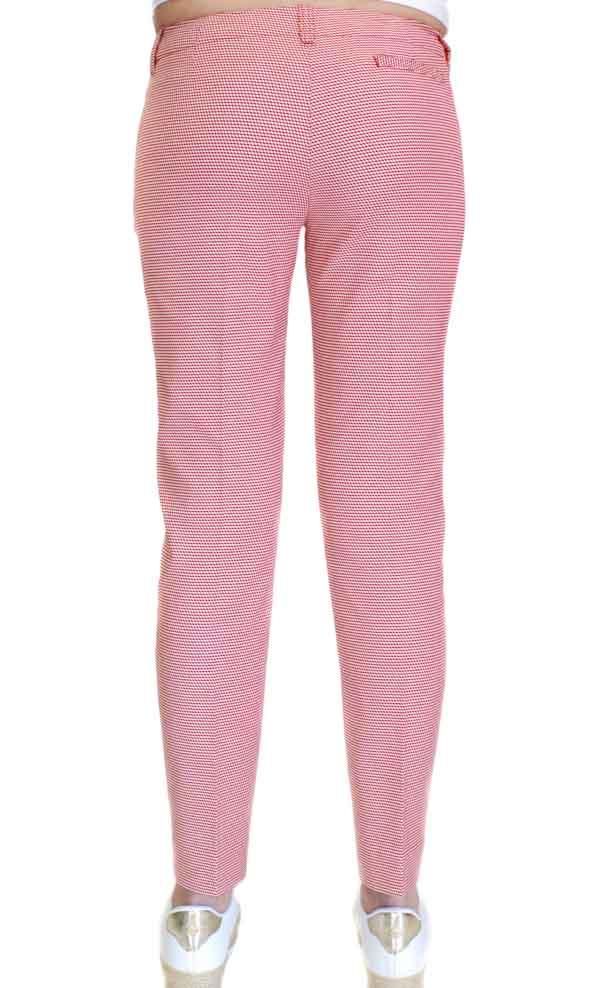 Armani jeans pantalone donna in micro fantasia rossa-2