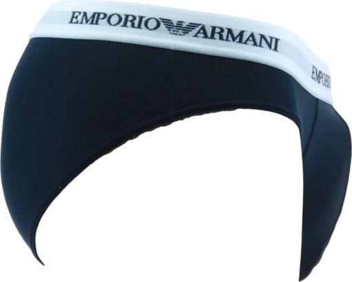 Emporio Armani uomo 2 slip bianco e blu-1