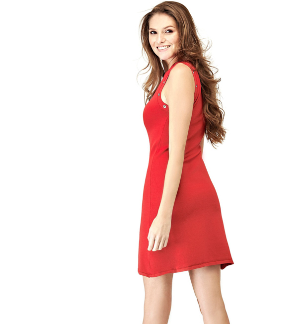 save off 23e12 69f0c VESTITO GUESS CON SCOLLO A V