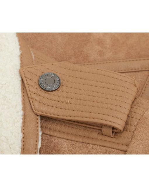 Montone ecologico beige Armani jeans donna-1