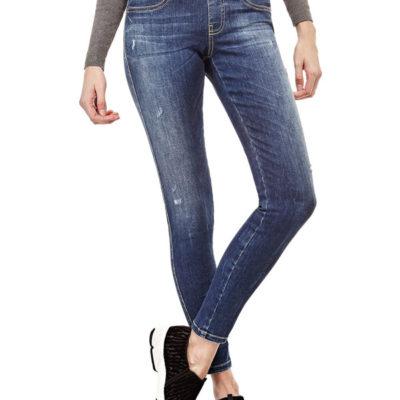GUESS jeans donna elasticizzato vita alta zip dietro