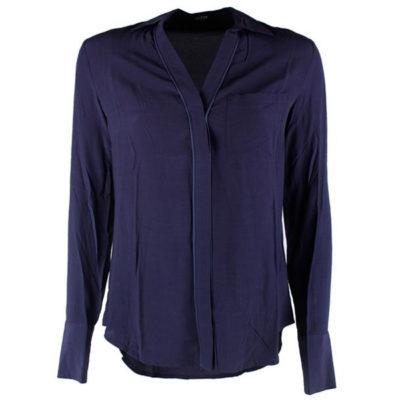 GUESS camicia donna blu con chiusura profilata