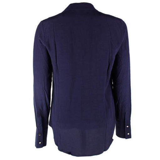 GUESS camicia donna blu con chiusura profilata vista da dietro