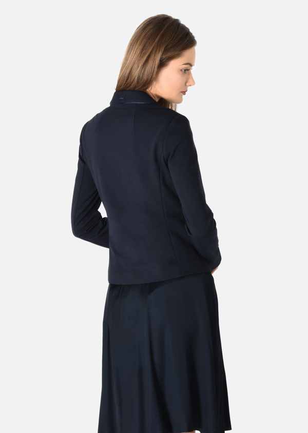 Armani jeans giacca da donna blu slim fit-3