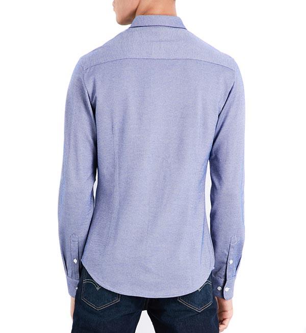 ARMANI camicia azzurra in maglia da uomo-2