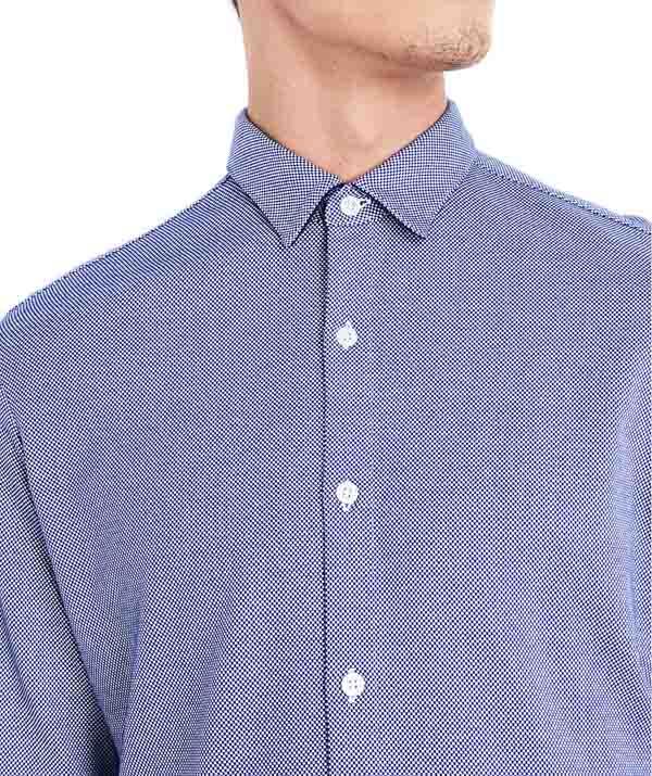 ARMANI camicia azzurra in maglia da uomo-1