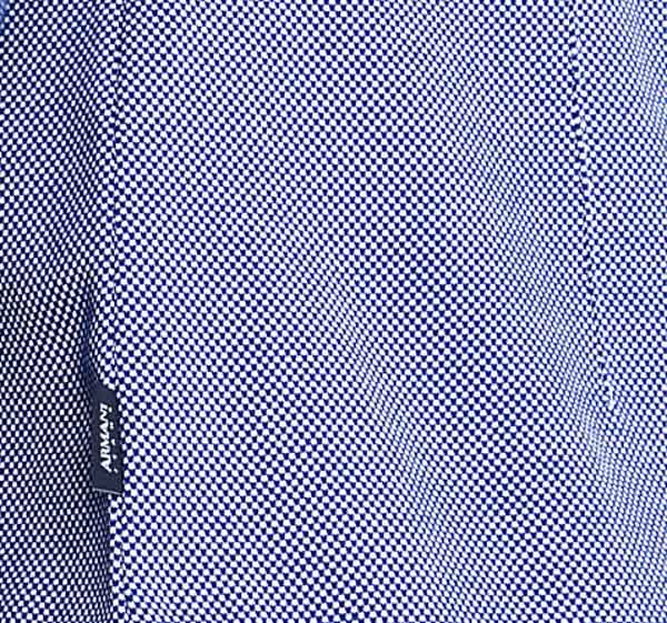 ARMANI camicia azzurra in maglia da uomo-3