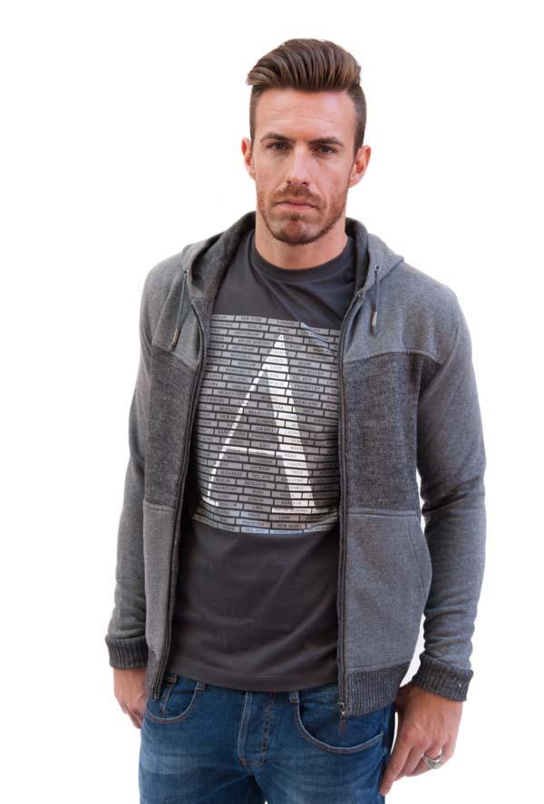 GUESS maglia da uomo a cardigan con cappuccio-1
