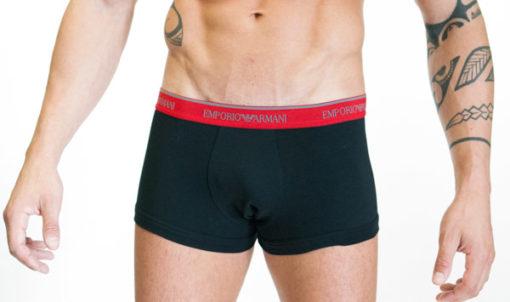 Emporio Armani uomo 2 pack boxer nero elastico rosso-1