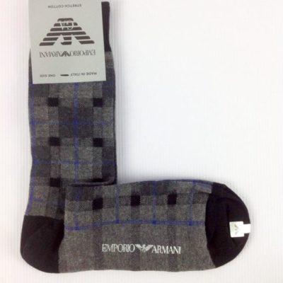 EMPORIO ARMANI calze uomo corte quadri grandi
