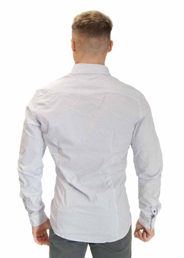 camicia uomo GUESS bianca microfantasia-2
