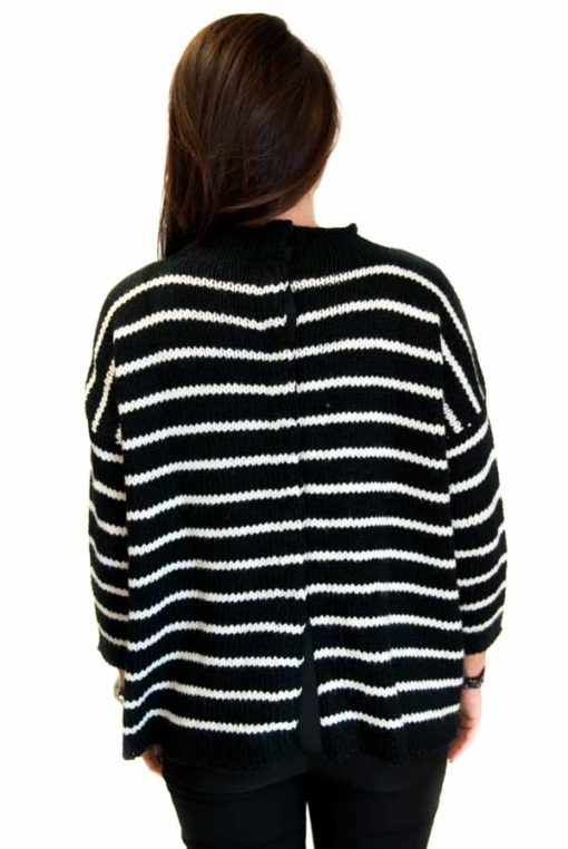 GUESS maglione donna rigato bottoni sulla schiena-1
