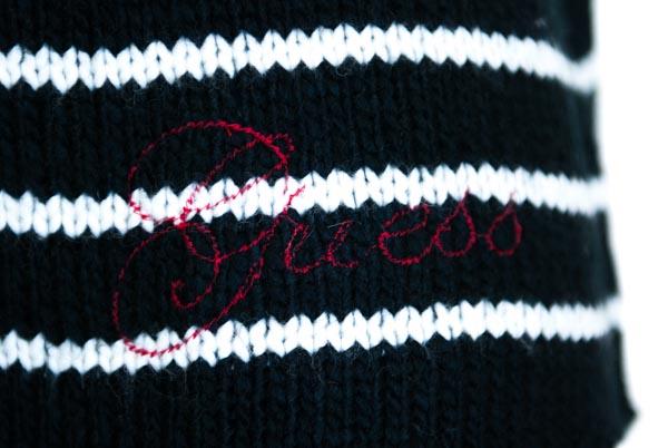 GUESS maglione donna rigato bottoni sulla schiena-3