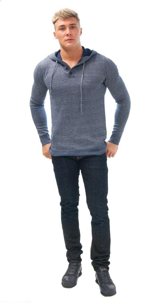jeans Armani jeans j06 scuro con maglia con cappuccio Guess