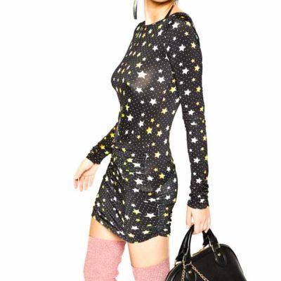 DENNY ROSE abito corto con stelle colorate