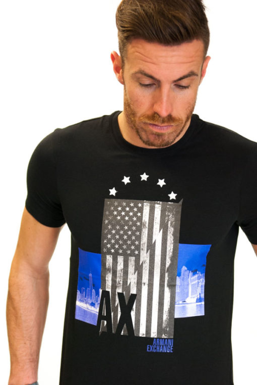 ARMANI EXCHANGE t-shirt con stampa americana