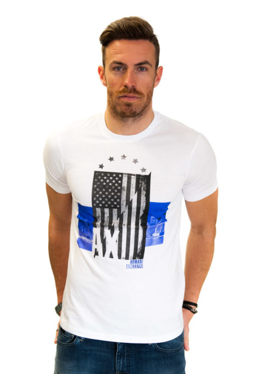ARMANI EXCHANGE t-shirt con stampa americana-1