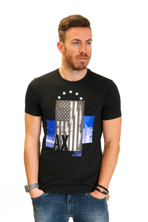 ARMANI EXCHANGE t-shirt con stampa americana-2