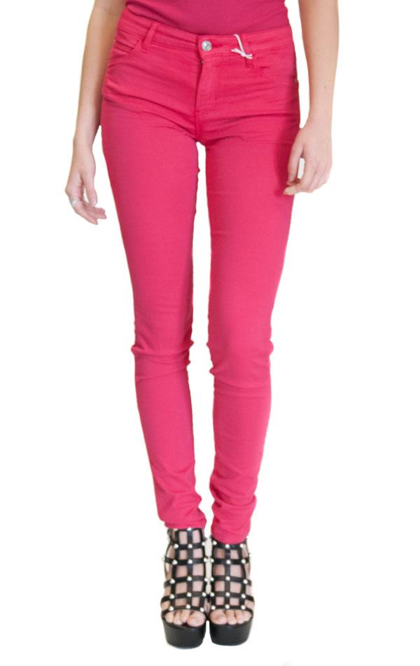 jeans GUESS colorato in tessuto elasticizzato e gamba slim-2