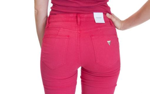 jeans GUESS colorato in tessuto elasticizzato e gamba slim-3
