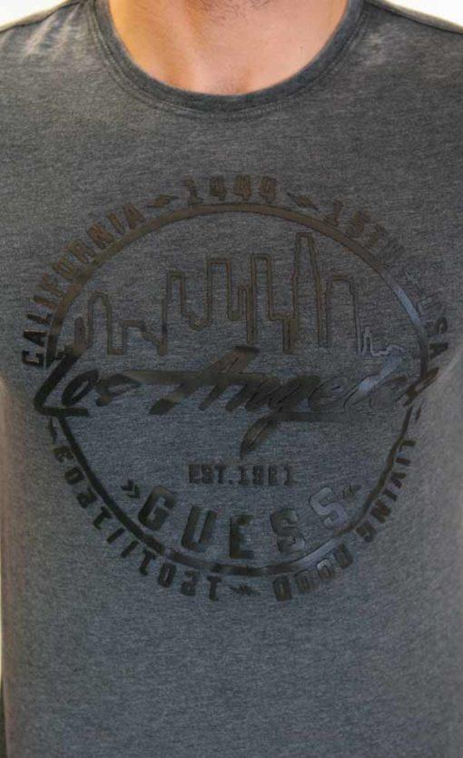 Maglietta da uomo Guess in tessuto lavato -3