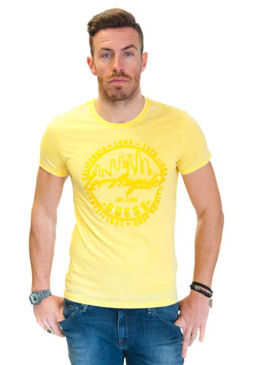 Maglietta da uomo Guess in tessuto lavato -4
