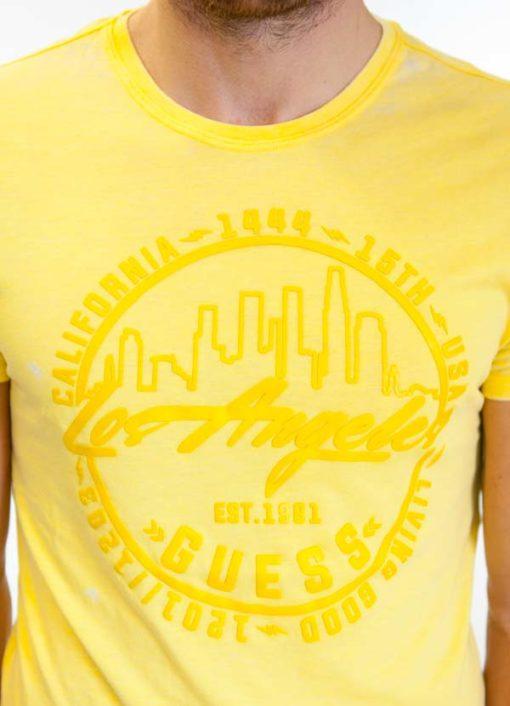 Maglietta da uomo Guess in tessuto lavato -5
