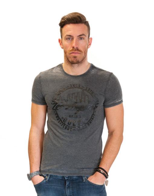 Maglietta da uomo Guess in tessuto lavato -1