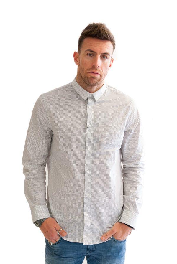 Armani Exchange camicia da uomo con piccola fantasia