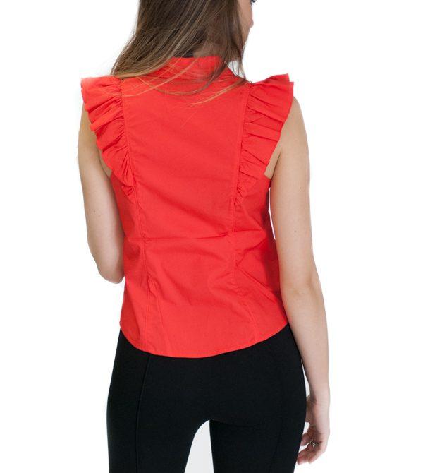 ARMANI Exchange camicetta da donna senza maniche vista da dietro