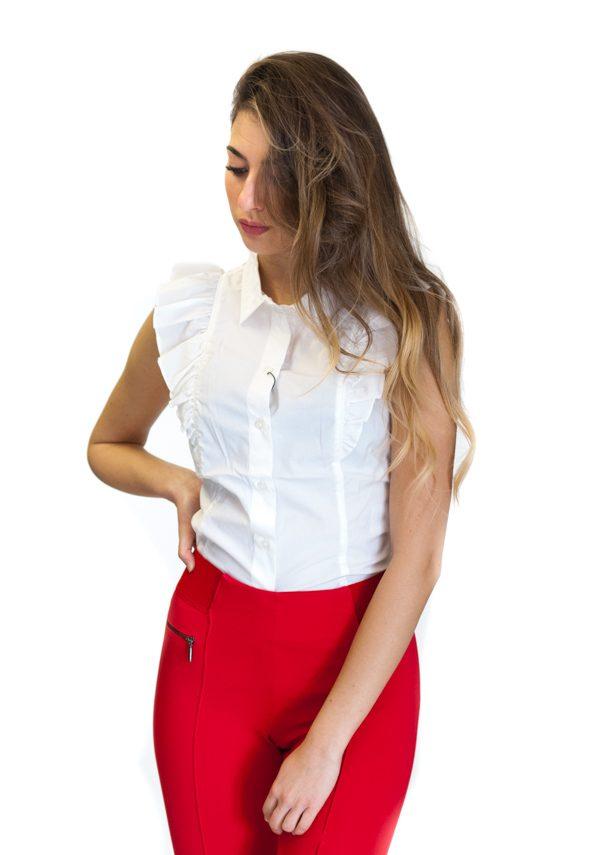 ARMANI Exchange camicetta da donna senza maniche -3