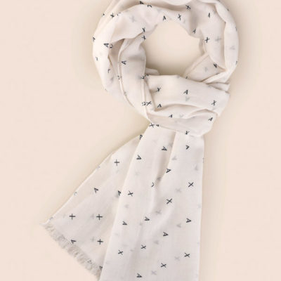 sciarpa Armani Exchange con logo all over da uomo -1