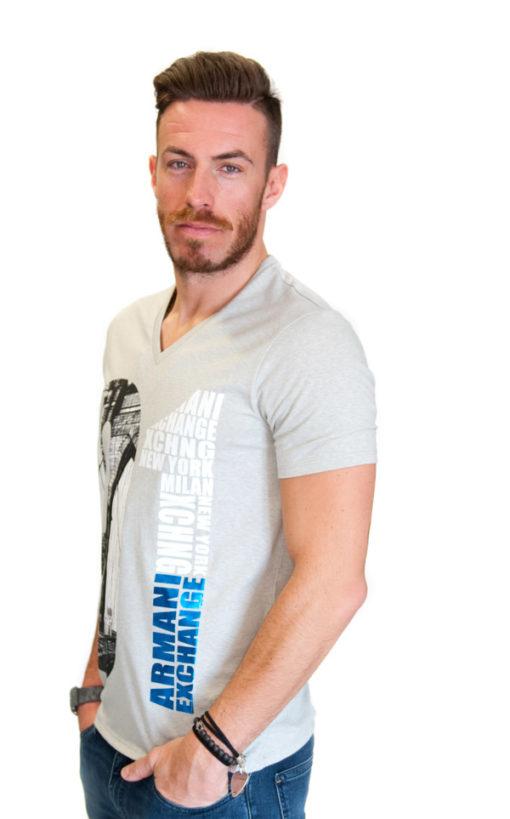 Armani Exchange maglietta da uomo con stampa -2