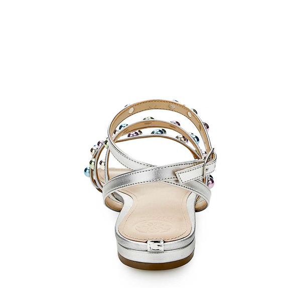 GUESS sandalo da donna argento con borchie-2