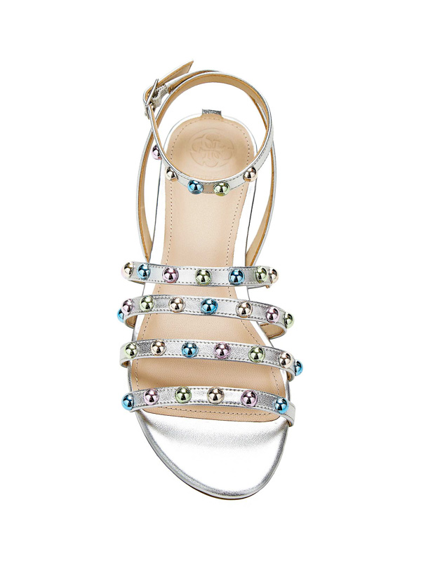 GUESS sandalo da donna argento con borchie-1